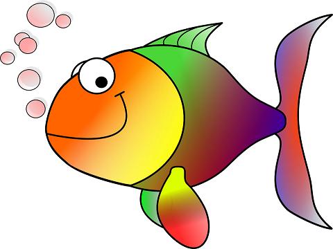 Bild: Bunter Fisch/Zeichnung